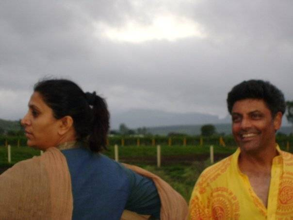 Uttara Kher and Adwait Kher at Utopia Farmstay