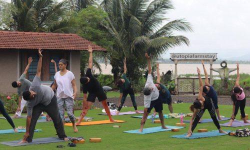 Yoga Workshop at Utopia Farmstay Nashik near Sula Vineyards